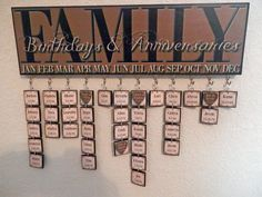 Custom/Personalized Family Birthday Plaque by LainiesCustomPlaques, $40.00. She does custom colors....love mine!