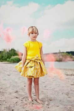 Yellow. #kids #fashion #estella