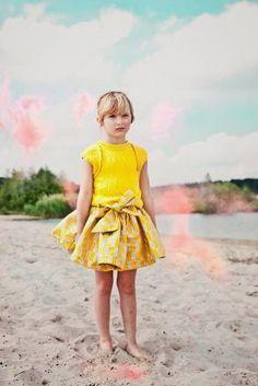 Yellow. #kids #fashion #estella