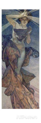 Sterne: Der Morgenstern, 1902 Print van Alphonse Mucha bij AllPosters.nl