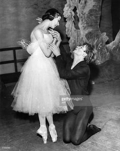 Russian ballet dancer Rudolf Nureyev rehearses 'Giselle' 19 February 1962 with Dame Margot Fonteyn at the Royal Opera House in Covent Garden, London