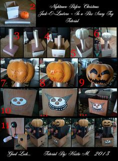 How to take your Jack Skellington - or other Nightmare Before CHristmas - costume to the next level! DIY Nightmare Before Christmas Halloween Props: Nightmare Before Christmas Jack in the Box Scary Toy Tutorial Halloween Prop, Disney Halloween, Halloween Christmas, Halloween Projects, Diy Halloween Decorations, Halloween Town, Christmas Themes, Vintage Halloween, Happy Halloween
