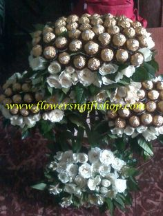 Tower of Chocolate and Roses Chocolates, Bouquet, Tower, Bear, Plants, Lathe, Schokolade, Bouquets, Towers