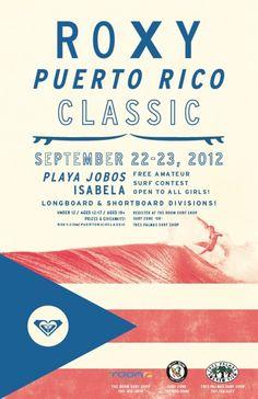 Roxy Puerto Rico Classic Event Poster