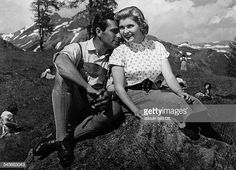Matz Johanna Actress Austria * with Adrian Hoven in a film scene Vintage property of ullstein bild Austria, Scene, Actresses, Fictional Characters, Vintage, Movie, Pictures, Female Actresses, Fantasy Characters
