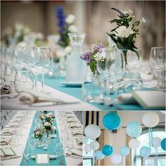 Eppel Fotografie | Weddingplanner het Bruidsmeisje | Tiffany Blue Wedding | Dinner Setting