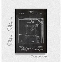 Baseball Game 1887 Patent Print