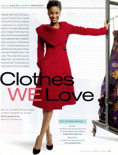 One of my favorites: Armani mohair coat from 8/05 In Style mag