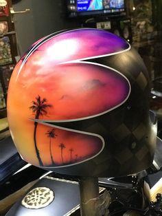 Custom Helmets, New Tank, Helmet Design, Airbrush Art, General Crafts, Chapter 3, Motorcycle Helmets, Buckets, Custom Paint