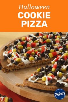 Top this sweet pizza any way you like, Halloween-style. Just 5 ingredients and 15 minutes of prep needed.