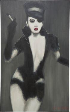 Oil Painting Fetisch Lady 120x75cm