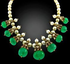 India Jewelry, Gold Jewelry, Jewlery, Vintage Jewelry, Fine Jewelry, Fancy Jewellery, Stylish Jewelry, Gold Pearl Necklace, Indian Style