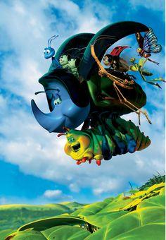A Bug's Life poster, t-shirt, mouse pad Pixar Movies, Disney Movies, Disney Pixar, A Bugs Life Characters, Cartoon Characters, Pixar Quotes, Life Poster, Print Poster, First Animation