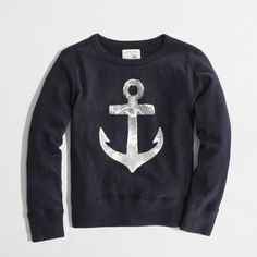 Factory boys' faded anchor sweatshirt (2.240 RUB) ❤ liked on Polyvore