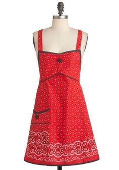 Strike Up the Bandana Apron, #ModCloth This apron is a necessity in my life. #needtobuyit