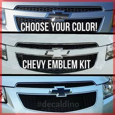 Custom Chevy Emblem Kit  Badge Bowtie Vinyl by OfficialDecalDino