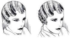 1920's Hair Styles  Finger Wave technique for Women with longer hair