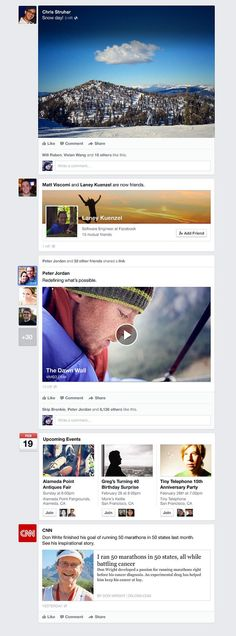 The New Look of Facebook News Feed. Click to read all about it.