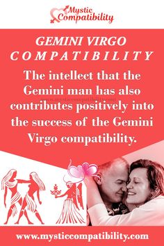 The intellect that the Gemini man has also contributes positively into the success of the Gemini Virgo compatibility. #Gemini #Virgo #Relationship #Compatibility #Gemini_Virgo #Relationship_Compatibility #GeminiVirgo #RelationshipCompatibility #Zodiac_Signs Gemini And Virgo, Virgo Women, Gemini Woman, Virgo Love Compatibility, Relationship Compatibility, Virgo Relationships, Soulmate Signs, Negative Traits, Joy Of Life