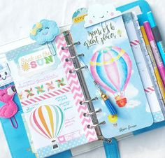 In my Sky Blue Webster's Pages Color Crush Planner:: Anabelle O'Malley using my #happiescrappie kit