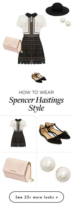 """Spencer Hastings"" by hammiegrl on Polyvore featuring Accessorize, self-portrait, Givenchy and Kate Spade"