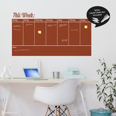 Write and Erase Weekly Calendar  Weekly Planner by SirFaceGraphics