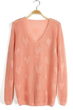 Cutout Sweetheart Graphic Sweater - OASAP.com