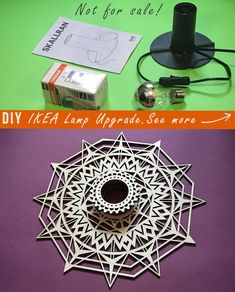 Your place to buy and sell all things handmade Sacred Geometry Patterns, Ikea Lamp, Lamp Shades, Hygge, Mantra, Wood Crafts, Woodworking Projects, Sconces, Handmade Items