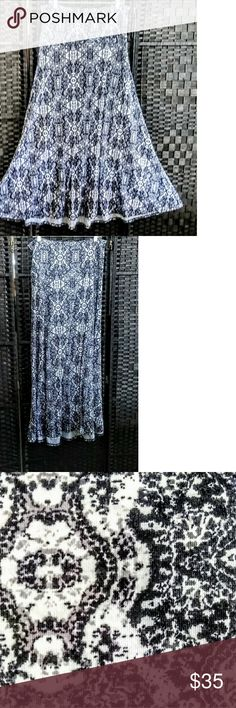 BNWOT LULAROE BLACK AND WHITE BOHO PRINT MAXI XL This gorgeous black and white skirt has never been worn and is in pristine condition. I would call it and Aztec or boho style skirt. The graphics are gorgeous and the skirt has a band at the top to flatter your stomach. If you have additional questions or need additional photos please ask before offering or purchasing dude are no return policy! LuLaRoe Skirts Maxi
