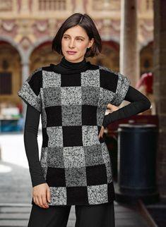 Mag. 183 - #25 Dress - flecked check version | Buy, yarn, buy yarn online, online, wool, knitting, crochet | Buy Online