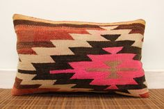 Vintage lumbar kilim pillow 12 x 20 Anatolian by kilimwarehouse, $47.00