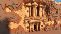 City of Petra Jordan Minecraft Project