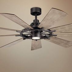 Kichler Gentry XL Anvil Iron LED Ceiling Fan Home Decorators Collection Artshire 52 in. Ceiling Fan In Kitchen, Living Room Ceiling Fan, Large Ceiling Fans, Black Ceiling Fan, Home Ceiling, Led Ceiling, Ceiling Fans With Lights, Decorative Ceiling Fans, Dc Ceiling Fan