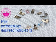 Mis prensatelas imprescindibles II: para qué sirven y cómo se usan - YouTube Janome, Singer Overlock, Sewing Hacks, Sewing Projects, Diy Y Manualidades, Sewing Needles, Straight Stitch, Diy Videos, Kids And Parenting