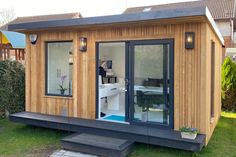 Gallery | Insulated Garden Rooms | Outside In Insulated Summer House, Insulated Garden Room, Summer Houses Uk, Summer House Garden, Garden Home Office, Backyard Office, Backyard Storage Sheds, Backyard Sheds, Tiny House Cabin