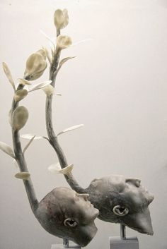 """workman: """" b-l-a-c-k-o-r-c-h-i-d: f-l-e-u-r-d-e-l-y-s: Giuseppe Agnello Sculptures Sicilian sculptor Joseph Lamb Gives new meaning to the expression """"one with nature."""" His surreal sculptures of bodies with roots, branches, or tree trunks emanating. What Is Contemporary Art, 3d Figures, Amai, Natural Forms, Figurative Art, Dark Art, Installation Art, Art Dolls, Sculpting"""