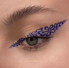 Makeup Eye Looks, Eye Makeup Art, Blue Eye Makeup, Cute Makeup, Pretty Makeup, Makeup Geek, Skin Makeup, Makeup Inspo, Eyeshadow Makeup