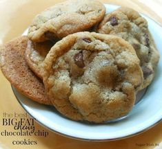 The Best Big Fat Chewy Chocolate Chip Cookies will not disappoint! Soft, thick, cookies loaded with chocolate chips. Our favorite recipe!
