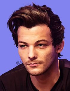 One Direction Update   @the1Dscene      An amazing painting of Louis by pointlessdonothing.tumblr.com