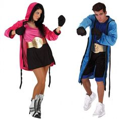 Pareja Disfraces Boxeadores