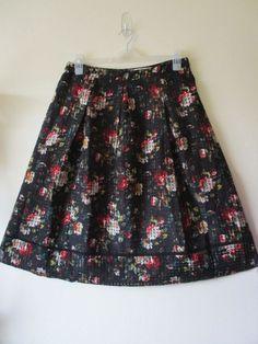 3b67c84c7 OASIS SKIRT Floral MIDI Black ROSE ORGANZA Trellis 1950s Swing Sz 14 NEW  #fashion #clothing #shoes #accessories #womensclothing #skirts (ebay link)