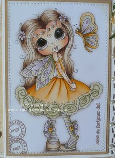 Bestie close-up by Trine Kristiansen.... see entire card in her blog post