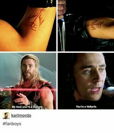 "Loki and Thor in Ragnarok. Thor should have said ""By Odin's beard"" Marvel Avengers, Marvel Jokes, Marvel Comics, Funny Marvel Memes, Dc Memes, Avengers Memes, Marvel Heroes, Funny Comics, Spiderman Marvel"