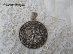 Old Filigree pendant by Nkempantiques on Etsy