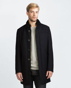 Image 4 of STRUCTURED COAT WITH REMOVABLE COLLAR from Zara