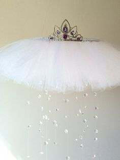 crystal baby mobile princess mobile princess by JennabooBoutique