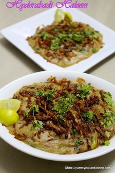 Hyderabadi Haleem Recipe is an authentic and traditional Ramadan special delicacy served as an evening meal during iftar after fasting for the whole day. Halal Recipes, Lamb Recipes, Veg Recipes, Indian Food Recipes, Cooking Recipes, Prawn Recipes, Snacks Recipes, Cooking Tips, Chicken Recipes