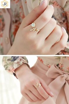Rhinestone ring - Mixed Metal Stack ring set, Rose Gold, Yellow Gold and Sterling Silver stack rings, Set of stackable rings, mixed metal rings – Rhinestone ring Cute Jewelry, Wedding Jewelry, Gold Rings Jewelry, Gold Bracelets, Jewelry Ideas, Rhinestone Jewelry, Silver Jewellery, Arabic Jewelry, Wedding Bracelets