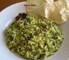 Spinach Rice - Palak Kichadi - Keerai Pongal   Simple Indian Recipes