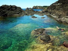 Matapouri Mermaid Pools, New Zealand - by Naomi Bromberg.